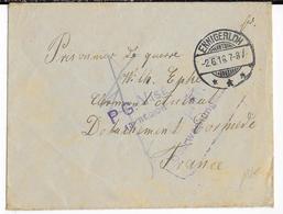 1916 - PRISONNIER DE GUERRE ALLEMAND - ENVELOPPE De ENNIGERLOH => CAMP De AULNAT (PUY DE DOME) - Marcophilie (Lettres)