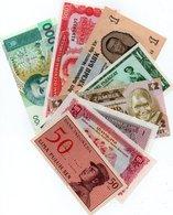LOTTO 8 BANCONOTE -EUROPA,ASIA,AMERICA-UNC - Monete & Banconote