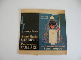 Anne Marie Carrière Et P. Jean Vaillard - Le Chauffe-eau électrique - Pochette De 45 T Vite (sans Vinyle) - Unclassified