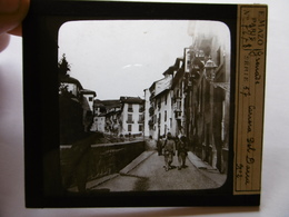 ESPAGNE GRANADA CARRERA DEL DARRO  SUPERBE PHOTO PLAQUE DE VERRE  10 X 8.5 - Glass Slides