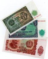 LOTTO 3 BANCONOTE BULGARIA-3,5,10 LEVA 1951-UNC - Bulgaria