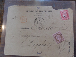 22.05.18-   LSC De Bordeaux Recommandé ,variétés A Voir ,fond Ligné ,cachet Perlé Verso - Postmark Collection (Covers)