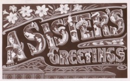 AP60 Greetings - A Sister's Greeting - Actresses In Letters, RPPC - Fêtes - Voeux