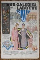 Catalogue Thématique AUX GALERIES LAFAYETTE - Blanc - Vers 1930 - Mode