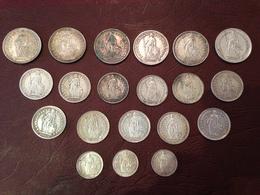 SUISSE - Lot De 20 Monnaies Argent à Saisir ! - Switzerland
