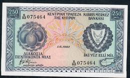 CYPRUS P41c 250 MILS 1.6.1982  1982   UNC. - Cyprus