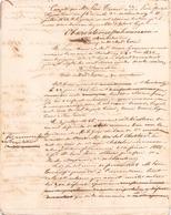 Manuscrit Concernant Une Succession Du 11 Juillet 1809 - Manuscripts