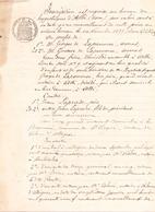 Manuscrit Concernant Une Inscription Au Bureau Des Hypothèques D'Albi Du 6 Novembre 1899 - Manuscripts