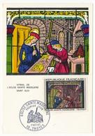FRANCE - Carte Maximum - 1,00F Eglise Ste Madeleine - Premier Jour - TROYES 1967 - Cartes-Maximum