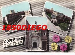 COPERTINO - IL CASTELLO - VEDUTINE F/GRANDE VIAGGIATA ANIMATA - Lecce