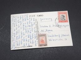 JORDANIE - Affranchissement De Jérusalem Sur Carte Postale Pour L 'Allemagne - L 17292 - Jordanie