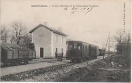 CPA ( St Porchaire - La Gare // Chemins De Fer économiques Charentes ) - Sonstige Gemeinden