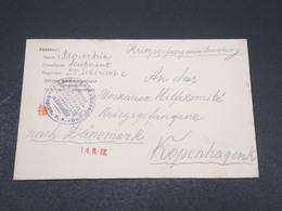 ALLEMAGNE - Enveloppe Pour Le Danemark En Franchise En 1917 - L 17296 - Deutschland