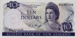 10 Dollari Nuova Zelanda Unc /fds  Anno 1975 RR - New Zealand