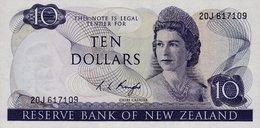 10 Dollari Nuova Zelanda Unc /fds  Anno 1975 RR - Nouvelle-Zélande