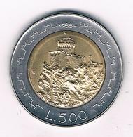500 LIRE 1988 SAN MARINO /2839G/ - San Marino