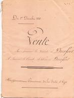 Manuscrit Du 1 Décembre 1880 Acte De Vente à La Ferté Saint-Cyr - Manuscripts