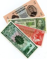 LOTTO 4 BANCONOTE -,ASIA,AMERICA-UNC - Munten & Bankbiljetten