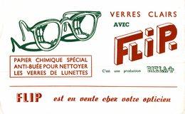 Buvard  VERRES CLAIRS AVEC FLIP - Blotters