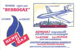 BUVARD BERROGAZ Butane Propane Gaz - Avion Caravelle France - Transports
