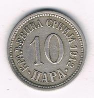10 PARA 1912 SERVIE /2844G/ - Serbia