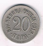 20 PARA 1912 SERVIE /2845G/ - Serbia