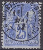 Le Monetier-de-Briançon (Htes Alpes) : Cachet à Date Type 17 Sur Sage. - Marcophilie (Timbres Détachés)