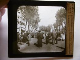 ESPAGNE BARCELONA RAMBLA CANALETE SUPERBE PHOTO PLAQUE DE VERRE  10 X 8.5 - Glass Slides