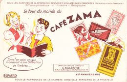 BUVARD CAFE ZAMA - SAO PAULO Brésil - Timbres Philatélie - Coffee & Tea