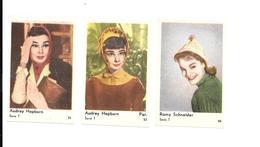 Z996 - PHOTOS DIVERSES  - AUDREY HEPBURN - ROMY SCHNEIDER - 4.5 X 7 CM - Photographs