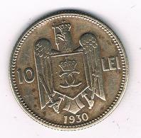 10 LEI 1930   ROEMENIE /2850G/ - Romania