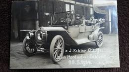 CPA PHOTO J KOHLER CHAUFFEUR ZUM MORD AUF DER SCHLUCHT 11 5 1914 GUERRE AUTOMOBILE GROS PLAN - Francia