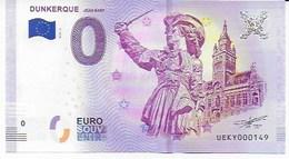 Dunkerque Et Son Billet Souvenir Officiel. Le Beffroi De L'Hôtel De Ville Et La Statue De Jean BART - Specimen