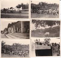 6 MINI PHOTOS--AFRIQUE NOIRE--avion + Militaires   ?--voir Scan - Africa