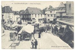 Cpa Salies De Béarn - Place Du Bayàa   ( Marché )   ( S. 2829 ) - Salies De Bearn