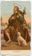 Santino Antico Fustellato SAN ROCCO (marcato ED. G. Mi 43) - HCP-41 - Religion & Esotericism