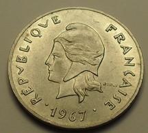 1967 - Polynésie Française - French Polynesia - 50 FRANCS, Sans IEOM, KM 7 - French Polynesia