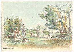 Cpsm Barre Dayez - Saint Laurent Du Var - Les Bergers ( Moutons ) BD1471H  ( S.2834) - Illustrators & Photographers