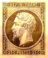 RARE & SUPERBE NAPOLEON N°10 25c Plaqué OR NEUF LUXE PAS D'AMINCI - 1852 Louis-Napoléon