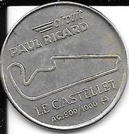 Rare Medaille Circuit Paul Ricard Le Castellet 1970 1990 Les Vingt Ans De La Fondation Argent 800/1000 Diamètre 22 Mm - France