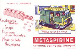 BUVARD ESTAFETTE RENAULT - Aspirine Métaspirine Composée Tonique - Automotive