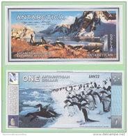 Antartide Antartic Antarctica Coupon 1 Dollar 1996 - Banknotes