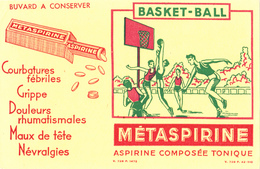 BUVARD BASKET BALL - Aspirine Métaspirine Composée Tonique - Sport