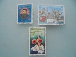 Lot De  3 Timbres De La Poste Aérienne Polynesie - Poste Aérienne