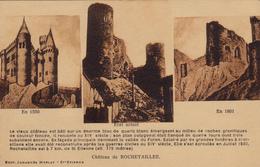 42,cpa,chateau De Rochetaillée,prés St Etienne,loire,massif Du Pilat,date De 1173,style Gothique,puis Rennaissance,rare - Rochetaillee