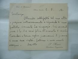 ALBANO LAZIALE MANOSCRITTO CARTOLINA GUARDIANO CAPPUCCINO V.E. 1928 PAX ET BONUM - Historische Dokumente