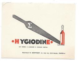 Buvard Ancien Produits Pharmaceutiques - DOCTEUR H.MARTINET Paris - HYGIODINE D'après J.BERGER (bouteille à Droite) - Chemist's
