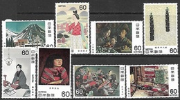 Japan   1981-2   Sc#1443-50 Art Sets MNH   2016 Scott Value $8 - 1926-89 Empereur Hirohito (Ere Showa)