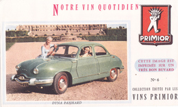 BUVARD AUTOMOBILE DYNA PANHARD - Vins Primior N° 6 - Automotive