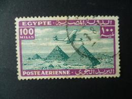 TIMBRE  EGYPTE   POSTE AERIENNE N° 23  OBLITERE   AVION PYRAMIDE - Poste Aérienne
